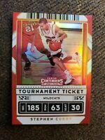 Stephen Curry 2020-21 Panini Contenders Draft Tournament Ticket 17/49 Davidson