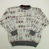 RETRO Mens Vintage  Pullover MEDIUM  Cotton Acrylic Sweater Jumper