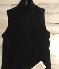 NEW Lululemon Tundra Trek Sherpa Wool Fleece Vest S Small Black HBLK NWT