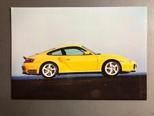 2000 Porsche Turbo Coupe Full Color Werkfoto Press Photo Factory Issued RARE LS