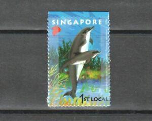 SINGAPORE 2006 UNDERSEA WORLD BOTTLENOSE DOLPHIN SELF ADHESIVE PANE 1 STAMP MINT