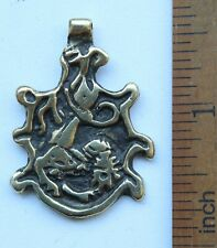 Ancient Solid Bronze Pendant ''Mythical Lion'' Reproduction