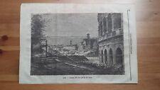 1873 Illustrazione Popolare: Veduta di  Roma Ingresso del Foro per la via Sacra