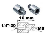 "Adaptateur de filetage 1/4""-20 M6 Thread adapter adaptor metric imperial mf fm"