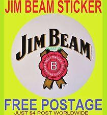 JIM BEAM BOURBON STICKER ~ BRAND NEW GENUINE MERCHANDISE DECAL ~ FREE POSTAGE