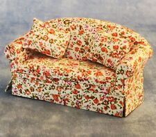 Floral 2 Seat Sofa 12th Scale for Dolls House Living Room