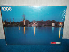 HARBOUR BY NIGHT LIGHTS - VINTAGE HESTAIR PUZZLE - 1000 PIECE JIGSAW - SEALED