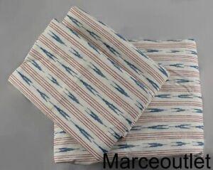 Ralph Lauren Lucie Ikat QUEEN Sheet Set Cream - Blue - Red