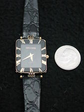 Simon Chang Ladies Watch Leather Gold, France, ETA Swiss 6 Jewel