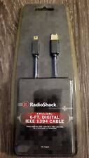 RadioShack 6Ft Digital IEEE 1394 Firewire Cable 4-Pin to 6-Pin 15-1069  -10
