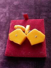 OLD AMBER MENS CUFF LINKS
