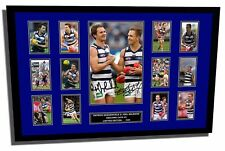 PATRICK DANGERFIELD & JOEL SELWOOD GEELONG CATS FRAMED MEMORABILIA