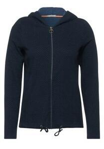 CECIL Damen Shirtjacke Shirt Jacke mit Kapuze deep blue blau B316076-20128-3 NEU