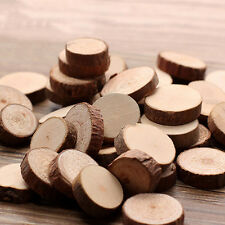 GREAT 50 Pcs Wood Slice Tree Trunk Craft Rustic Wedding Centerpieces Table Decor