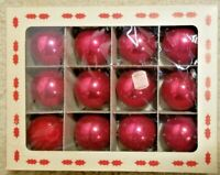 Lot of 11 Red vintage 2.25 Coby Glass Ornaments W/Original Box