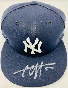 New York Yankees CC Sabathia Signed New Era Cap MLB Hologram JC197059