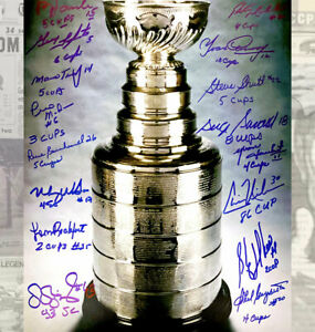 Montreal Canadiens All Time Stanley Cup Champions Autographed 11x14 Signed by 16