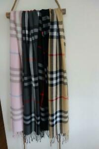 Unisex Men's/Women's Check Tartan Plaid Pashmina Scarf  Shawl 200x70cm
