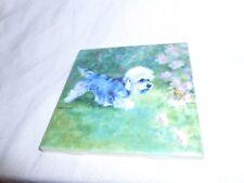 "Dandie Dinmont Terrier 4"" x 4"" Ceramic Art Tile Free Shipping"