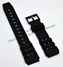 19mm Black watch band / strap compatible for Casio W-87H, W-88H, W-727H, W-731H