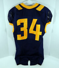 2015 California Golden Bears #34 Game Issued Navy Jersey Dp01151