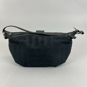 "Salvatore Ferragamo AU-22 6123 Hand Shoulder Purse Black Bag Small 10.5 x 5"""
