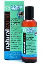 Natural World Hair Oil   Coconut Water Hydration And Shine Weightless Hair Oil