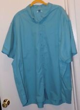 Joesusa Turquoise Cotton/Poly Blend Short Sleeve Shirt - Mens Size 5XL-NWOT