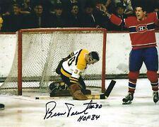 """Autographed 8x10 BERNIE PARENT """"HOF 84""""  Boston Bruins photo with Show Ticket"""