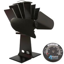 2017 Nuovo Design Eco Friendly calore alimentato Legna Mini STOVE Top Fan Nero