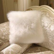 Soft Faux Fur Throw Pillow Case Fluffy Plush Sofa Cushion Cover Home Decor 40x40