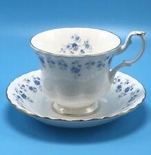 Royal Albert England Memory Lane Bone China Coffee Hot Cocoa Cup Mug & Saucer