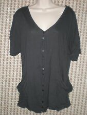 Womens Route 66 Black Cotton Short Sleeve Jacket Size M  B:41 W:38 L:27