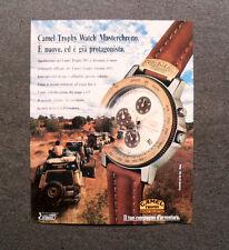 [GCG] L285- Advertising Pubblicità -1998- CAMEL TROPHY WATCH MASTERCHRONO