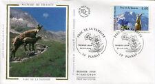 FRANCE FDC - 2998 1 PARC DE LA VANOISE MOUFLON - 20 Avril 1996 - LUXE sur soie