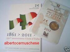 folder 2 euro 2011 ITALIA 150 anni unità italie italy Italien Италия