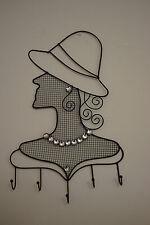 Schmuckhalter für die Wand Lady Dekoration 5 Haken Metall Pajoma für Ketten Ring