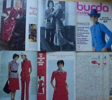 Burda Moden 01/1971 Kleid-Jacke Abendkleid Taille Mieder 70er J Mini Hosenanzug