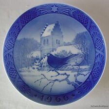 1966 Royal Copenhagen Christmas Plate BLACK BIRD