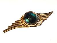 Bijou alliage doré broche ailée aurore boréale brooch