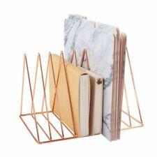 Rose Gold Magazine Holder, 9 Slots File Sorter, Desk Organizer, Triangle