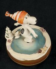 Reuge Vtg 68 Snoopy Skaters Waltz Skating Music Box Italy See Video