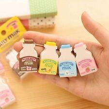 Correction Supplies School Supplies Kawaii Rubber Writing Supplies Milk Bottle
