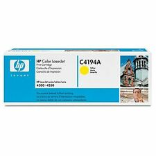 HP C4194A Toner Yellow 6000 Pages at 5%  HP Colour LaserJet 4500/4550 Printers
