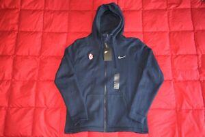 Washington Capitals Alex Ovechkin Custom Great 8 Logo Nike Club Fleece Hoodie L