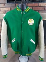 Vintage Green Bay Packers NFL Football Suede Leather Jacket Mens Size Medium