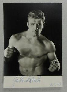 Autogrammkarte Schwergewichts Boxen Boxer 1967 Gerhard Zech Autograph