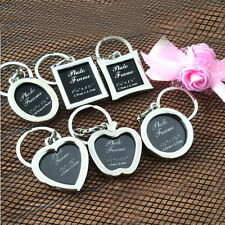 1Pc Classic Photo Frames Couple Keychain Keyring DIY Personalized Memorial Gifts