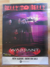 "CMC Records Promotional WARRANT ""Belly to Belly Volume One"" Poster"