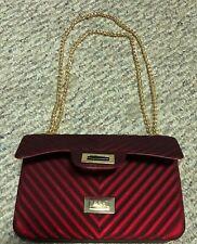 Women's Fashion Shoulder Bag Cross body Handbag Jelly Chain Bag - Red